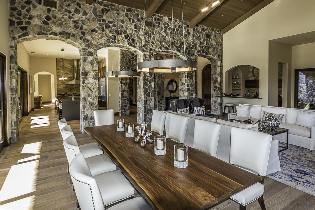 MCI Masonry Stone Arches Dining Room